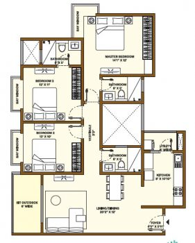 Nikoo Homes Phase 4 3 BHK Apartments